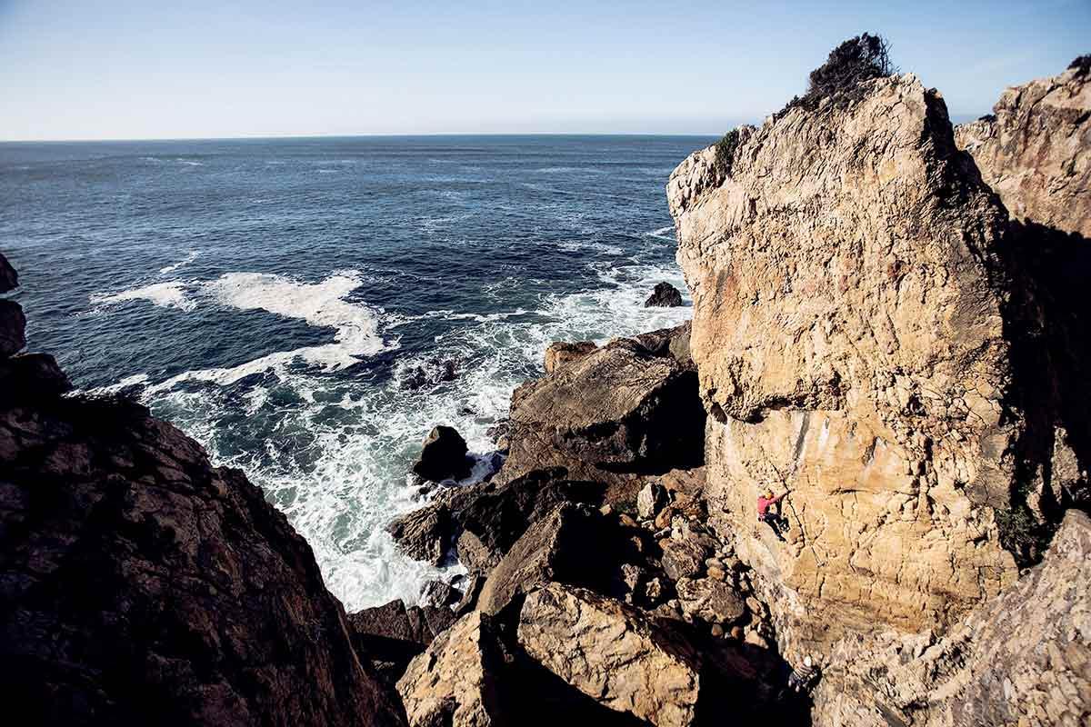 Kletterkurs am Meer an Kletterspots in Portugal
