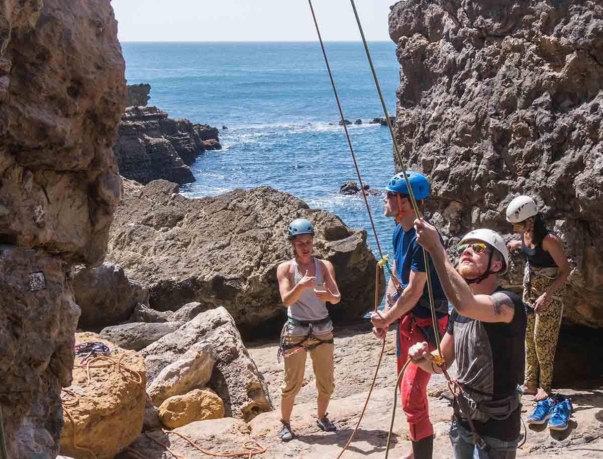 Kletterkurs am Meer in Portugal