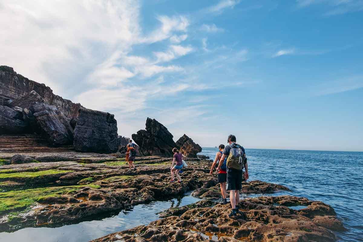 Klettern mit Kindern im Kletterkurs am Meer