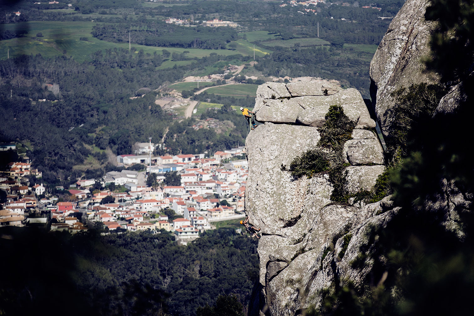 Climbing course in the mountains in Portugal