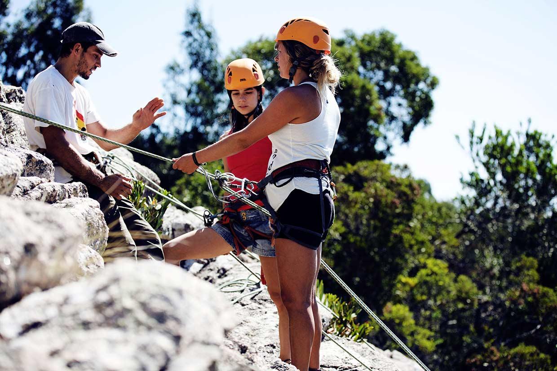 Kletterkurs in Portugal bei Sintra